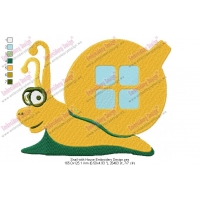 Snail with House Embroidery Design