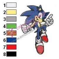 Sonic Embroidery Design 09
