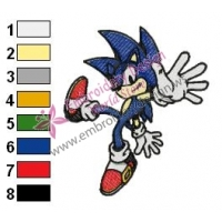 Sonic Embroidery Design 10