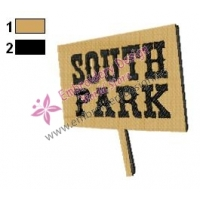 South Park Sign Embroidery Design