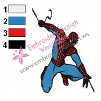 Spiderman Embroidery Design 09