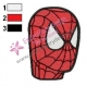 Spiderman Face Embroidery Design 02
