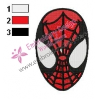 Spiderman Face Embroidery Design 03