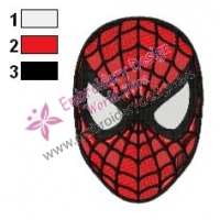 Spiderman Face Embroidery Design 04