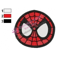 Spiderman Face Embroidery Design 05