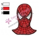 Spiderman Face Embroidery Design