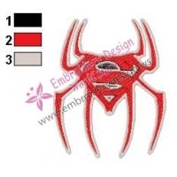 Spiderman Logo Embroidery Design 02
