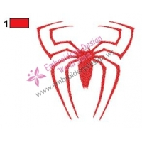 Spiderman Logo Embroidery Design 06