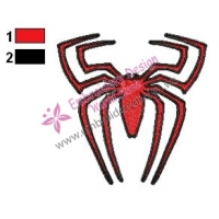 Spiderman Logo Embroidery Design 07