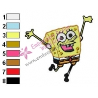 SpongeBob SquarePants Embroidery Design 10