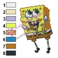 SpongeBob SquarePants Embroidery Design 11