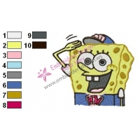 SpongeBob SquarePants Embroidery Design 13