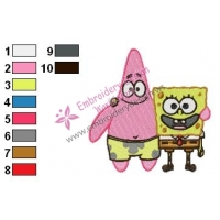 SpongeBob SquarePants Embroidery Design 16