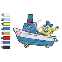 SpongeBob SquarePants Embroidery Design 17