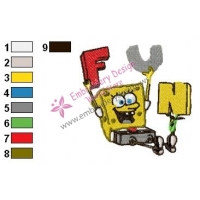 SpongeBob SquarePants Embroidery Design 3