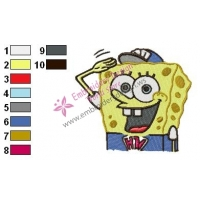 SpongeBob SquarePants Embroidery Design 35