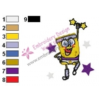 SpongeBob SquarePants Embroidery Design 36
