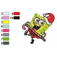 SpongeBob SquarePants Embroidery Design 8