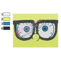 SpongeBob SquarePants Eyes Embroidery Design