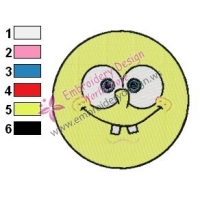 SpongeBob SquarePants Face Embroidery Design