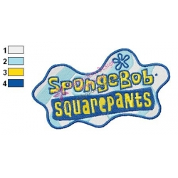 SpongeBob SquarePants Logo Embroidery Design