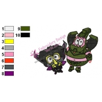 SpongeBob and Patrick Embroidery Design 02