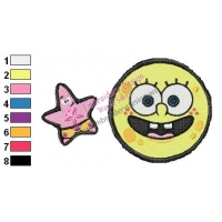 SpongeBob and Patrick Embroidery Design