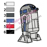 Star Wars CWR2 Embroidery Design