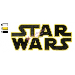 Star Wars Logo Embroidery Design