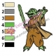 Star Wars Yoda Master 03 Embroidery Design