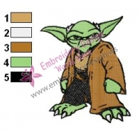 Star Wars Yoda Master 06 Embroidery Design