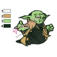 Star Wars Yoda Master 09 Embroidery Design