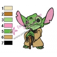 Star Wars Yoda Master 14 Embroidery Design