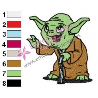 Star Wars Yoda Master 18 Embroidery Design