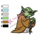 Star Wars Yoda Master 19 Embroidery Design