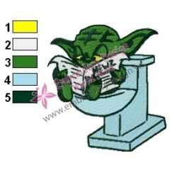 Star Wars Yoda Master 21 Embroidery Design