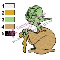 Star Wars Yoda Master 22 Embroidery Design
