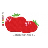 Strawberries Embroidery Design 02