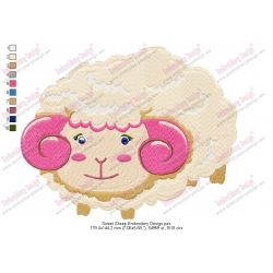 Sweet Sheep Embroidery Design