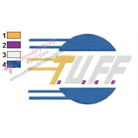 TUFF Logo Embroidery Design 02