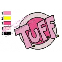 TUFF Logo Embroidery Design