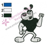 TUFF Puppy Embroidery Design 02