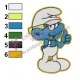 Tailor Smurfs Embroidery Design