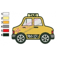 Taxi Car Embroidery Design 02