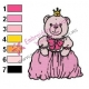 Teddy Bear Queen Mother Embroidery Design