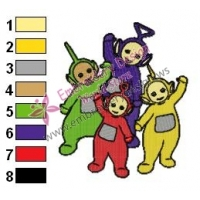 Teletubbies Family Embroidery Design 02