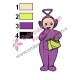Teletubbies Tinky Winky Embroidery Design 02