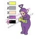 Teletubbies Tinky Winky Embroidery Design 03