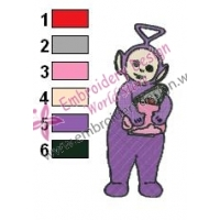 Teletubbies Tinky Winky Embroidery Design 04