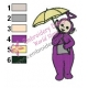 Teletubbies Tinky Winky Embroidery Design